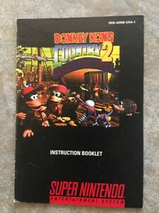 donkey kong country 2 for gameboy instruction manual