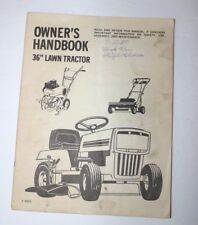 murray riding lawn mower owners manual