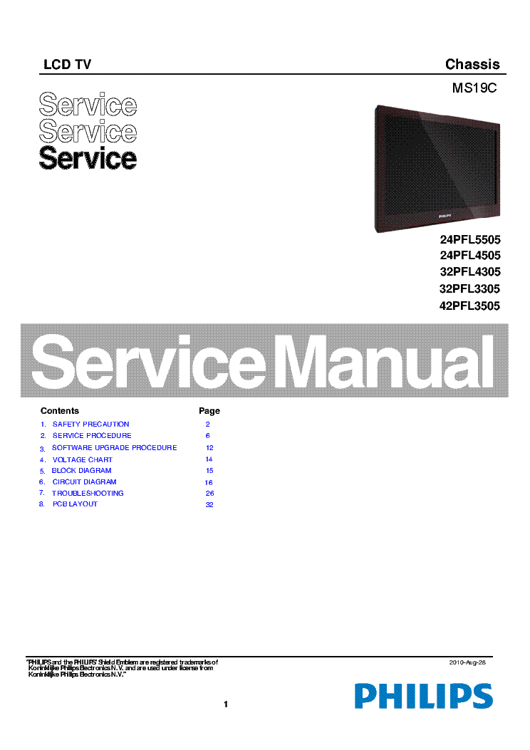 philips tv service manual free download