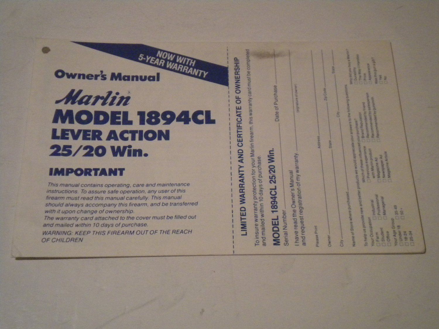 glenfield model 25 owners manual